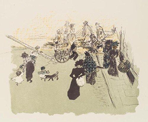 Historic Pictoric Print | Coin de rue, Print Maker: Bonnard, Pierre, 1867-1947, | Vintage Wall Art | 30in x 24in