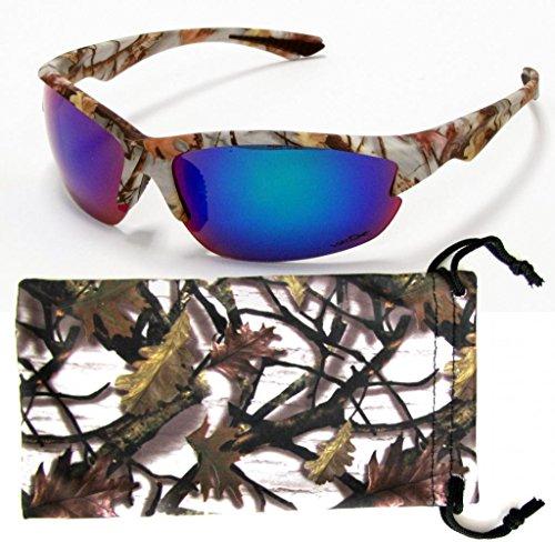 Camouflage Sunglasses Brown Orange White Camo Fishing Hunting Free Micorfiber Bag
