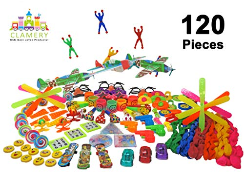 Party Favors for Kids - 120 PCs Kids Favorite Bulk Party Toys Pack for Birthday Party Favors Goodie Bags Pinata Filler Classroom Prizes