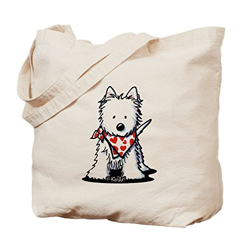 Cloth Tote Bag Scarf Heart Natural Canvas Bag Shopping Westie Cafepress OwfZTg0Tq