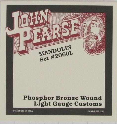 2060L John Pearse Mandolin Phosphor Bronze Light .010 .038