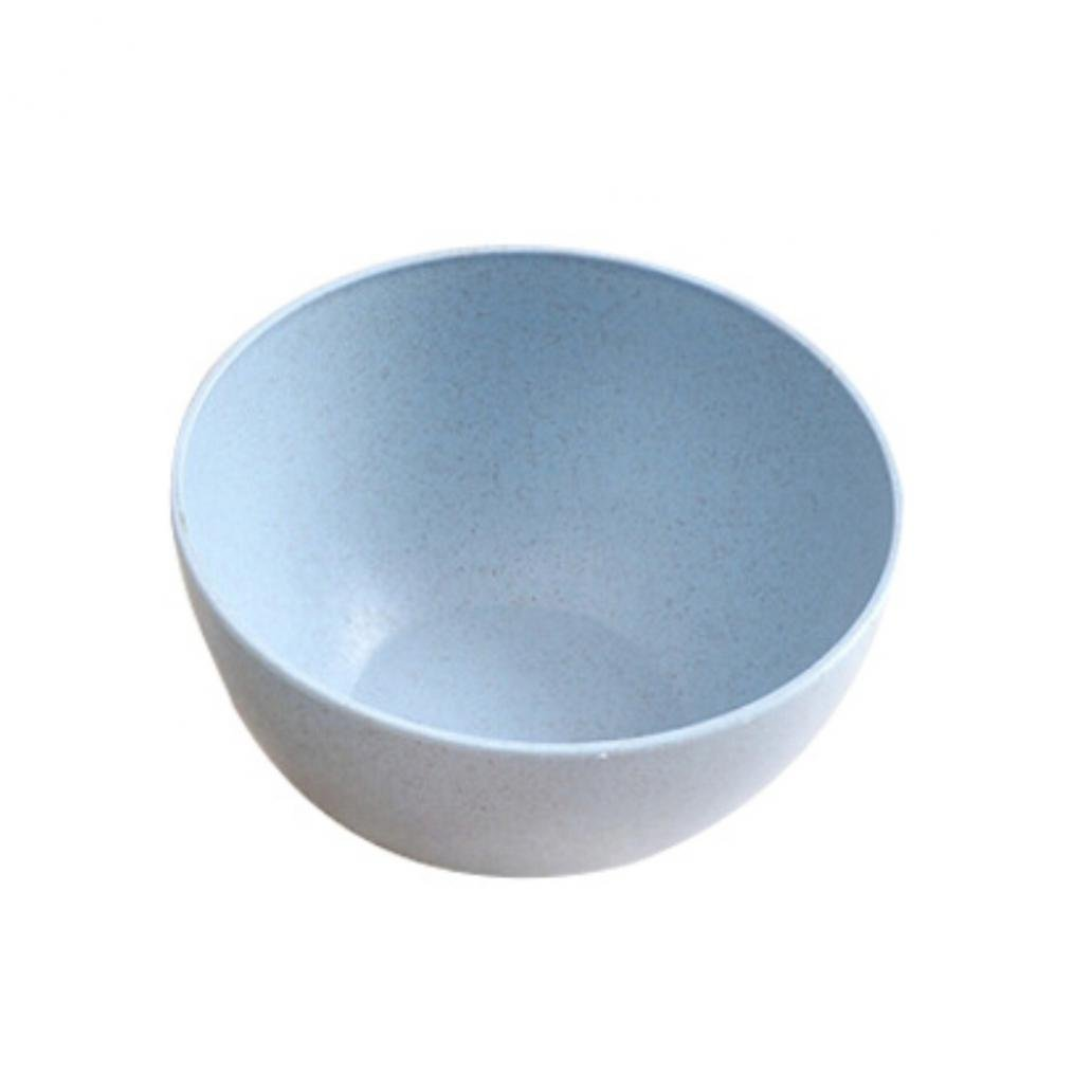 Eco-friendly Wheat Straw Children Rice Noodle Salad Bowl Household Tableware - Blue