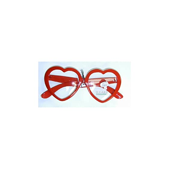 Amazon red heart shaped clear glasses clothing red heart shaped clear glasses altavistaventures Images