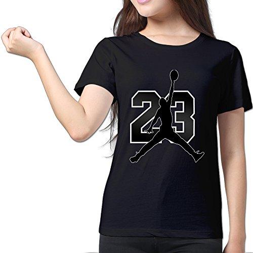 Jondan 23 Black Women's Sport Shirt For Womens Size S