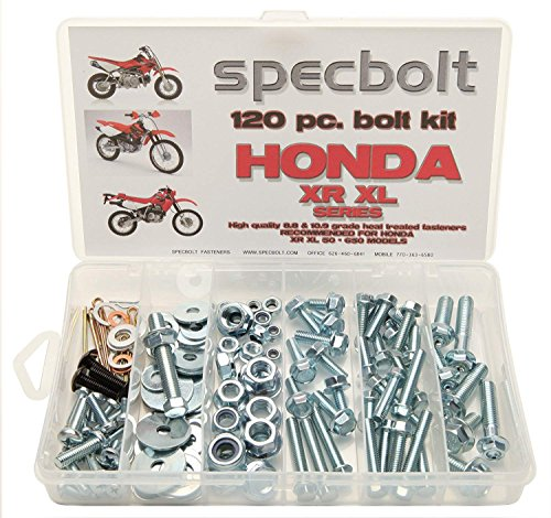 Specbolt Fasteners 120pc Bolt Kit: Honda - XR XL Series Dirtbike