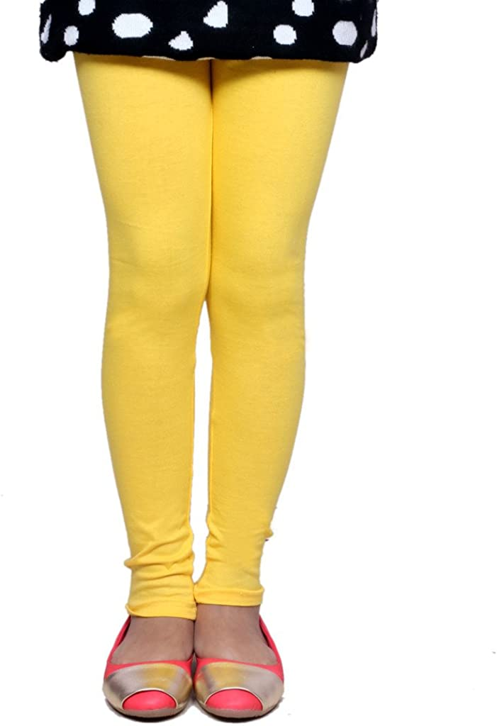 Indistar Big Girls Cotton Full Ankle Length Solid Leggings -Multiple Colors-17-18 Years Pack of 5