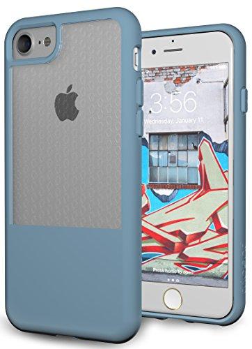 iPhone 7, iPhone 8 Ultra Slim Case - TPU Bumper, Hybrid Drop Protection - Niagara Blue, Fusion Series