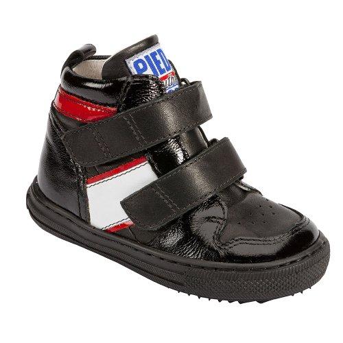 Piedro , Jungen Stiefel, Schwarz - Schwarz/Weiß - Größe: 23 Extra Wide