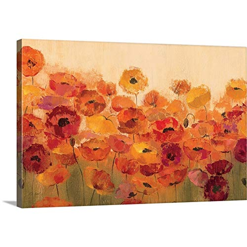 Summer Poppies Canvas Wall Art Print, 30