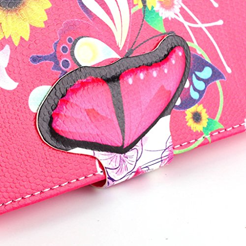 LG L70 Case, Lovely 3D TOMYOU Flip Leather Stand, Card Holder and Folio Wallet Pouch Case Cover for LG L70 Series III (Butterfly-13)