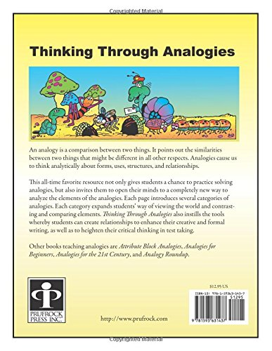Amazon.com: Thinking Through Analogies, Grades 3-6 (9781593631437 ...