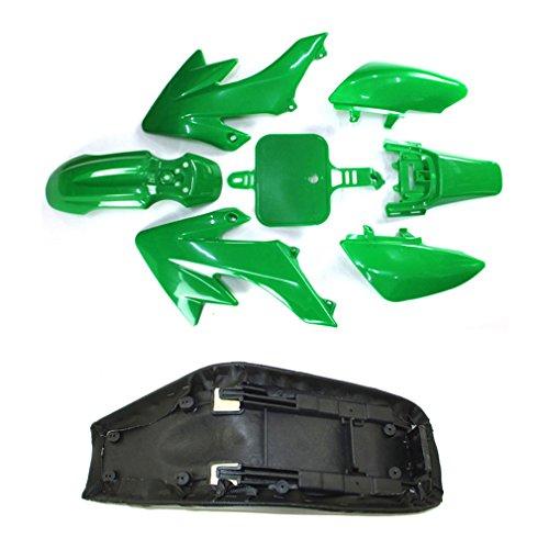 TC-Motor Plastic Fairing Body Kits + Tall Foam Seat For Honda CRF50 XR50 Pit Dirt Motor Trail Bike 50cc 70cc 90cc 110cc 125cc 140cc 150cc 160cc Chinese SSR YCF IMR Atomik Thumpstar BSE Apollo (Green) by TC-Motor (Image #4)