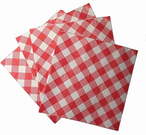 Red and White Gingham Luncheon 2-ply Napkins, 20 Count (2 Packs) 40 Napkins Total