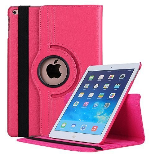 Mcart 360 Rotate Synthetic Leather Flip Cover for Apple iPad 9.7 2017 2018  Pink
