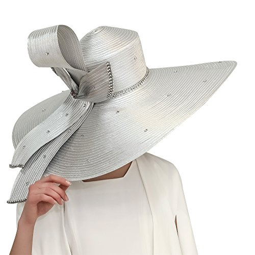 Kueeni Women Hats Hot Red Color Church Hats Lady Party Wear Fedoras Hats ( Silver) - Buy Online in Oman.  f47ad4436a4