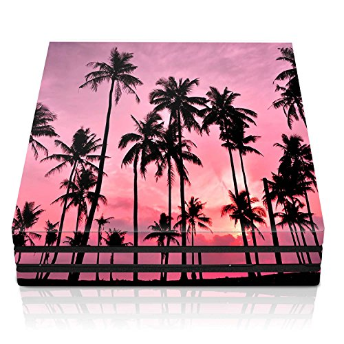 Controller Gear PS4 Pro Console Skin – Palm Trees Pink Horizontal – PlayStation 4