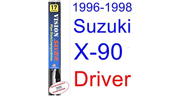 Amazon.com: 1996-1998 Suzuki X-90 Wiper Blade (Driver) (Saver Automotive Products-Vision Saver) (1997): Automotive