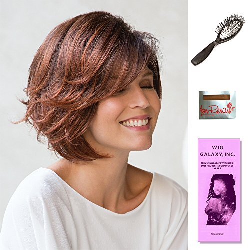 Dolce by Noriko, Wig Galaxy Hair Loss Booklet, Wig Cap, & Wig Brush (Bundle - 4 Items) (CREAMY TOFFEE ()