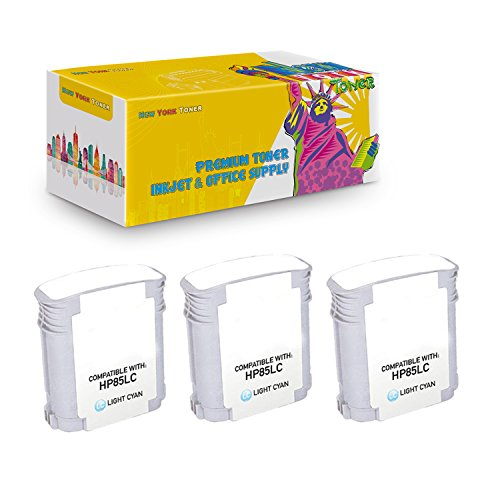 New York TonerTM New Compatible 3 Pack C9428A HP 85 High Yield Inkjet For HP Designjet 30 | 130 . -- Light Cyan