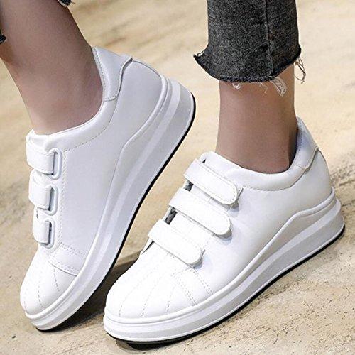 Blanco Negro GAOLIXIA perezosos casuales de Velcro deportivos Zapatos mujer Zapatos Blanco Zapatos Zapatos New casuales Wild RgwSnxq