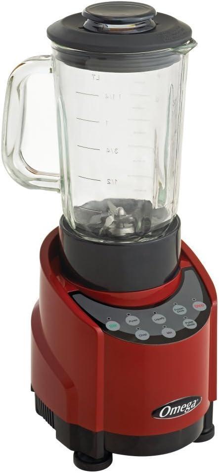 Omega slk100gr 1-HP rojo licuadora con recipiente de vidrio 48 ...