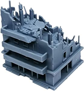 Outland Models Railway Scenery Structure Damaged Apartment 1:220 Z Scale