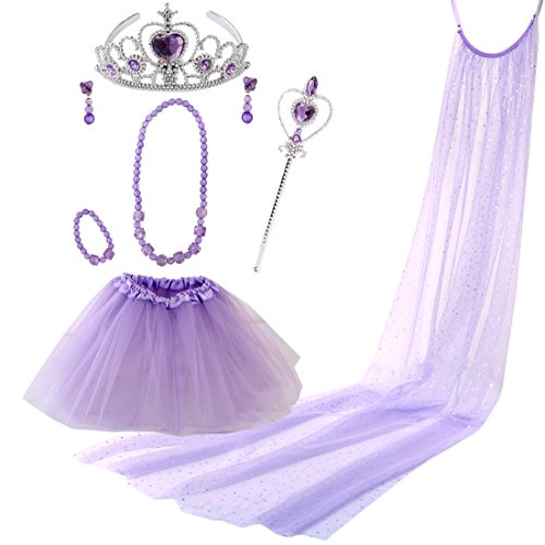 [kilofly Princess Party Favor Jewelry Costume Set Girls Birthday Gift Value Pack] (Fun Cheap Easy Halloween Costumes)
