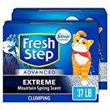 Fresh Step Advanced Extreme Clumping Cat Litter with Odor Control - Mountain Spring Scent - 37 lb (2x18.5lb Pack)