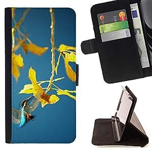 BullDog Case - FOR/Samsung Galaxy Core Prime / - / Spring plant /- Monedero de cuero de la PU Llevar cubierta de la caja con el ID Credit Card Slots Flip funda de cuer