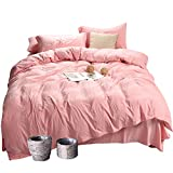 MH MYLUNE HOME Quality 3 Piece Duvet Cover Set Queen Size, Environmental,Fade Resistant, Hypoallergenic 140g/㎡ Bedding Set