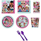 BirthdayExpress LOL Surprise Party Supplies Deluxe Party Pack for 16