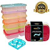 smartYOU Products 3-Compartment Multicolored Bento Lunch Box Meal - Best Reviews Guide