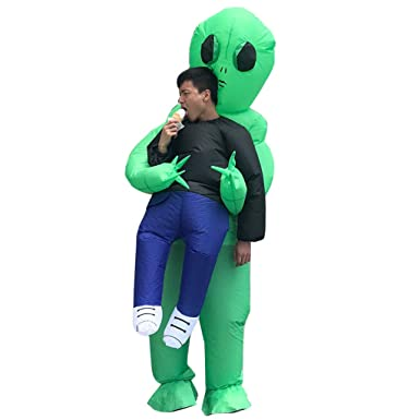 869a0036c PoppyCos Halloween Inflatable Alien Costume Ghost Pick Me Up Fancy Dress  for Adult