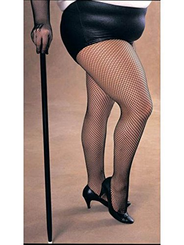 Rubie's Secret Wishes Women's Plus-Size Plus Size Fishnet Tights Adult Costume, -Black, One Size -