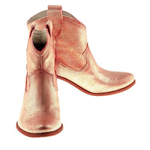 Scarpe Da Donna Felmini - Innamorarsi Vegas 7487 - Stivali Da Cowboy E Da Motociclista - Vera Pelle - Multicolore Multicolore