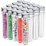 HNYYZL Bestsupplier 20 Pack Science Party Test Tubes 40 ml 25x140mm,Clear Plastic Test Tubes Gumball Candy Tubes, Bath Salt Vials Christmas Birthday Gifts
