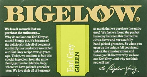 Bigelow Earl Grey Green Tea, 20 Bags (Pack of 6), Premium Green Tea with Oil of Bergamot, Antioxidant-Rich All-Natural Gluten-Free Medium-Caffeine Tea in Foil-Wrapped Bags by Bigelow Tea (Image #6)