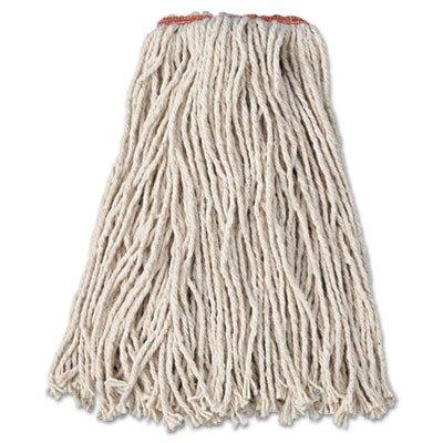 Rubbermaid Commercial F11612 Premium Cut-End Cotton Wet Mop Head, 16oz, White, 1
