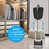 Professional Series Garment Steamer Accessories for Clothes Dual-Pro Iron, Perfect for sterilizing and disinfecting, 1800 Watt Power and a Large Water Tank, Built-in Ironing Board and Garment Hanger