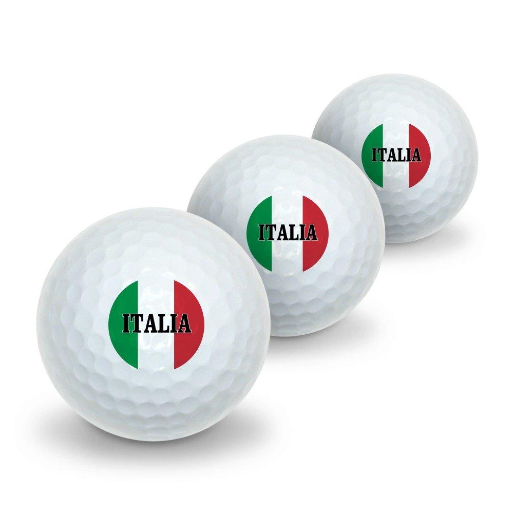 Italia Italy Italian Flag Novelty Golf Balls 3 Pack