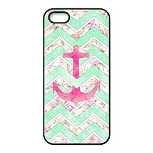 Anchor Chevron Shell Phone for iphone5s Black Cover Phone Case [Pattern-6]