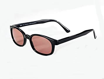 rose colored sunglasses jwtg  X KD Sunglasses Rose Colored Tint Glasses Biker Shades Large Size UV400