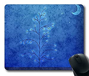 Design Mouse Pad Desktop Laptop Mousepads Blue Night And Branches Comfortable Office Mouse Pad Mat Cute Gaming Mouse Pad