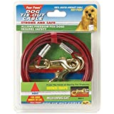 Four Paws Red 15 Foot Medium Weight Dog Tie Out Cable