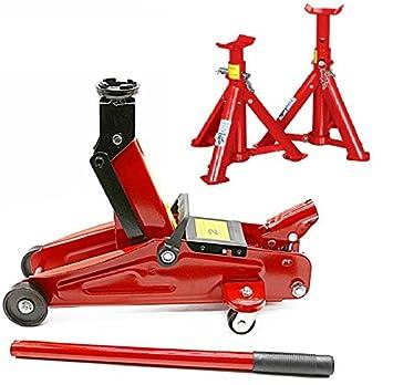 Progen - Gato hidráulico para hasta 2 toneladas, con ruedas y dos soportes: Amazon.es: Coche y moto