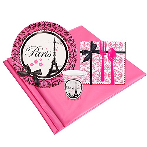 French Parisian Costume (Paris Damask Childrens Birthday Party Supplies - Tableware Party Pack (8))