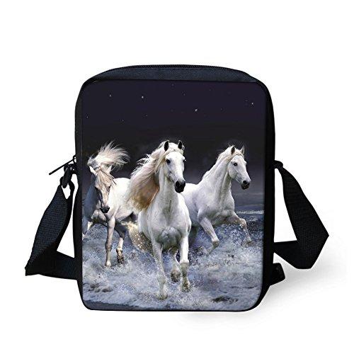 Horse Women Sling Crossbody Bag Travel Bag