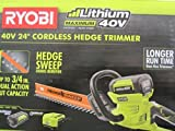 Ryobi 40-Volt Cordless Hedge Trimmer 24 includes Lithium-Ion Battery plus Charger by Ryobi