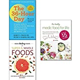 img - for 36-Hour day 6th edition, hidden healing powers of super & whole foods and healthy medic food for life 3 books collection set book / textbook / text book