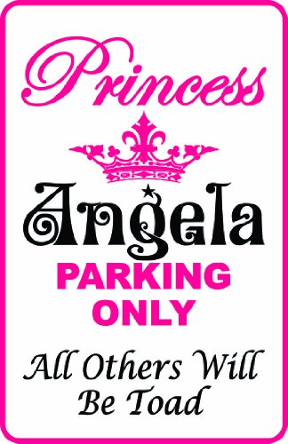 Princess Anchor - Anchor Graphix Princess Parking Sign White Background -Personalize Name Free